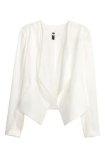 Draped jacket - White - Ladies | H&M CN 2