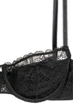 Reggiseno balconcino in pizzo - Nero - DONNA | H&M IT 3