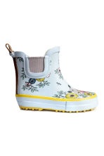 Patterned rubber boots - Light blue/Patterned - Kids | H&M CN 2