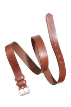 Narrow leather belt - Cognac brown -  | H&M CN 2