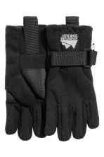 Fleece gloves - Black - Kids | H&M CN 1