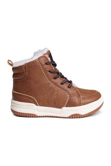 Hi-top trainers - Light brown - Kids | H&M CN 1