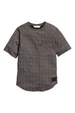 Long T-shirt - Black/Striped - Kids | H&M CN 2