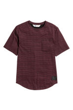 Long T-shirt - Burgundy/Striped - Kids | H&M CN 2