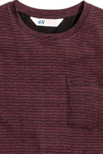 Long T-shirt - Burgundy/Striped - Kids | H&M CN 3