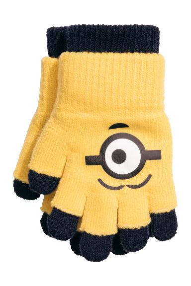 Fingerless gloves h m - Gloves Fingerless Gloves Yellow Minions Kids H M