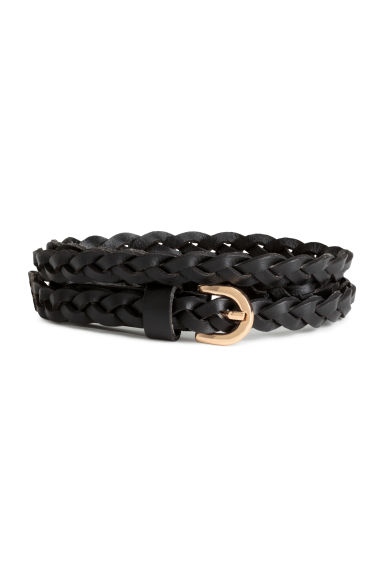 Braided leather belt - Black - Ladies | H&M CA