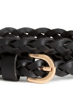 Braided leather belt - Black - Ladies | H&M 3