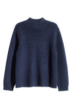 Pullover a lupetto in lana - Blu scuro -  | H&M IT 2