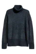 Pullover spigato a collo alto  - Blu scuro - UOMO | H&M IT 2