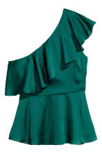 Top monospalla - Verde scuro -  | H&M IT 2