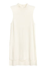Ribbed tunic - White - Ladies | H&M CN 2