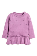 Flounced top - Purple/Heart - Kids | H&M CN 1