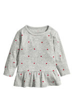 Flounced top - Grey heart - Kids | H&M CN 1