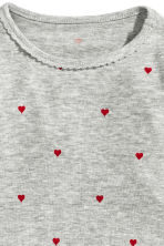 Flounced top - Grey heart - Kids | H&M CN 2