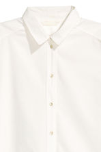 Long cotton shirt - White - Ladies | H&M CN 3
