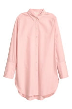 Long cotton shirt - Light pink - Ladies | H&M 2