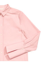 Long cotton shirt - Light pink - Ladies | H&M 3