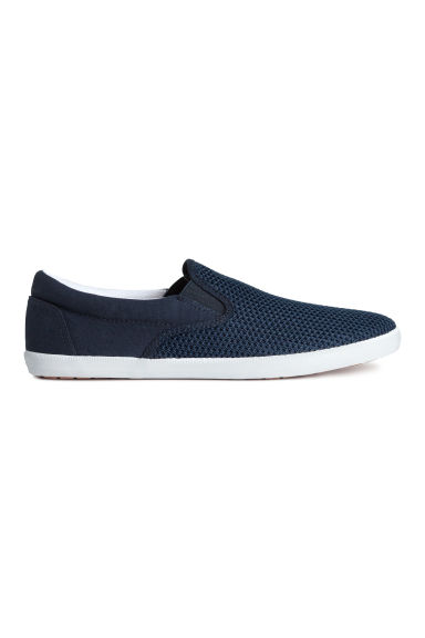 Slip-on trainers - Dark blue - Men | H&M CN