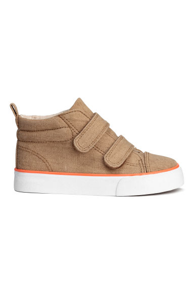 Canvas hi-top trainers - Dark beige - Kids | H&M CN 1