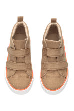 Canvas hi-top trainers - Dark beige - Kids | H&M CN 2