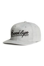Cap with embroidery - Grey/Brooklyn - Men | H&M CN 1