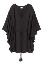 Dress with butterfly sleeves - Black - Ladies | H&M CN 2