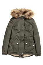 Pile-lined parka - Khaki green - Ladies | H&M CN 2