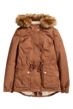 Pile-lined parka - Rust brown - Ladies | H&M CN 2