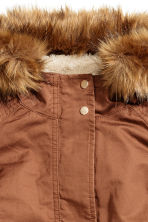 Pile-lined parka - Rust brown - Ladies | H&M CN 3