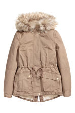 Pile-lined parka - Beige - Ladies | H&M CN 2