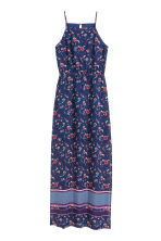 Patterned chiffon maxi dress - Dark blue/Floral - Ladies | H&M GB 2