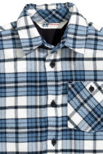 Checked flannel shirt - Blue - Kids | H&M CN 3