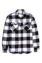 Checked flannel shirt - Black - Kids | H&M CN 2