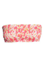 Bandeau bikini top - Pink/Patterned - Ladies | H&M CN 2