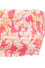 Bandeau bikini top - Pink/Patterned - Ladies | H&M CN 3