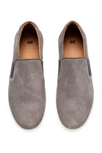 Sneakers slip-on in nabuk - Grigio talpa - UOMO | H&M IT 2