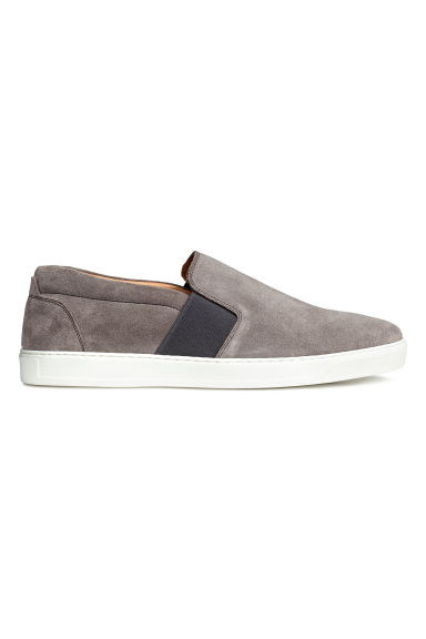 Slip-on nubuck trainers - Mole-grey - Men | H&M CN 1