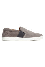 Sneakers slip-on in nabuk - Grigio talpa - UOMO | H&M IT 1