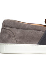 Slip-on nubuck trainers - Mole-grey - Men | H&M CN 4