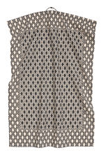 Patterned tea towel - Natural white/Anthracite grey - Home All | H&M CN 2