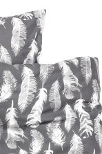 Patterned duvet cover set - Grey/Feathers - Home All | H&M CN 3