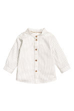 Shirt and waistcoat - White/Blue - Kids | H&M CN 2