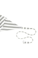 Striped bikini top - White/Grey striped - Ladies | H&M CN 3