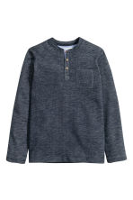 Henley shirt - Dark blue marl - Kids | H&M CN 2