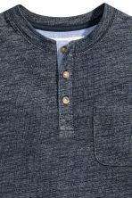 Henley shirt - Dark blue marl - Kids | H&M CN 3