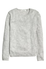 Fine-knit jumper - Light grey marl -  | H&M CN 2