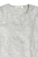 Fine-knit jumper - Light grey marl -  | H&M CN 3