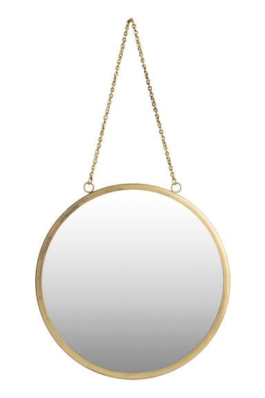 Round wall mirror - Gold - Home All | H&M GB