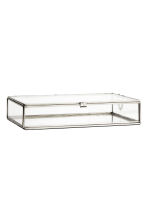 Large clear glass box - Silver - Home All | H&M CN 1